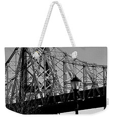 Queensboro Bridge  Weekender Tote Bag by John Harding