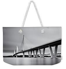 Queensferry Crossing Bridge Mono Weekender Tote Bag