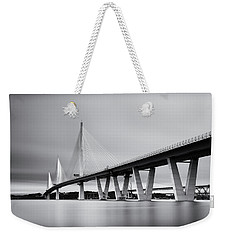 Queensferry Crissing Bridge Mono Weekender Tote Bag