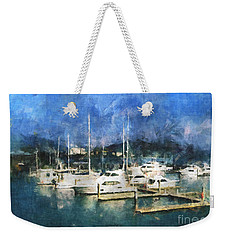 Weekender Tote Bag featuring the photograph Queensland Marina by Claire Bull