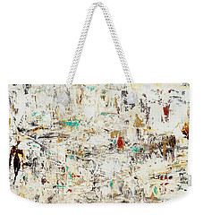 Weekender Tote Bag featuring the painting Quest by Carmen Guedez