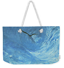 Weekender Tote Bag featuring the painting Quest by Jane See