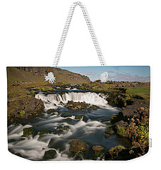 Weekender Tote Bag featuring the photograph Quick Flowing by Elvira Butler