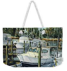Quiet Marina Weekender Tote Bag