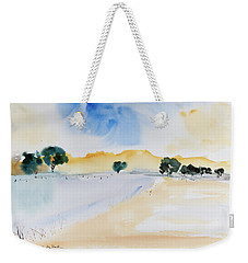 Weekender Tote Bag featuring the painting Summertime by Dorothy Darden