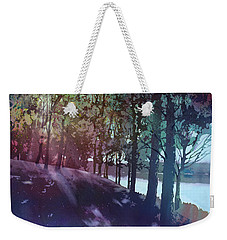 Weekender Tote Bag featuring the painting Quiet River by Kris Parins