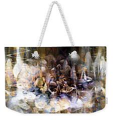 Weekender Tote Bag featuring the digital art  Quiet Thunder by Linda Sannuti