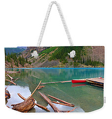 Moraine Lake I, Alberta Weekender Tote Bag