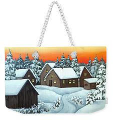 Quiet Winter Night Weekender Tote Bag
