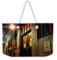 Weekender Tote Bag featuring the photograph Quiet Zone by Jessica Brawley