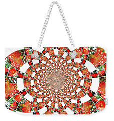 Quilted Flower Weekender Tote Bag