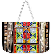 Quilted Window Weekender Tote Bag by Jim Harris