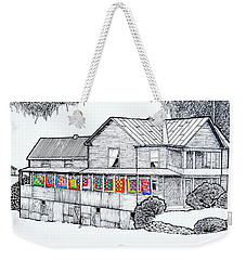 Quilts On Porch Weekender Tote Bag by Jim Harris