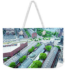 Weekender Tote Bag featuring the photograph Quincy And Columbus by Greg Fortier