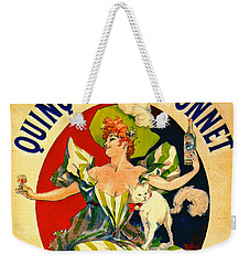 Quinquina Dubonnet Aperitif 1895 Weekender Tote Bag by Padre Art