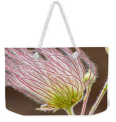Quirky Red Squiggly Flower 1 Weekender Tote Bag