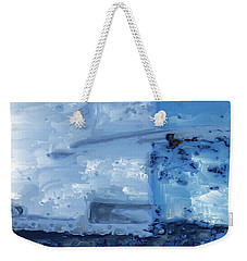 Quite Blue Weekender Tote Bag