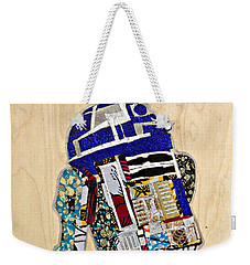 Weekender Tote Bag featuring the tapestry - textile R2-d2 Star Wars Afrofuturist Collection by Apanaki Temitayo M