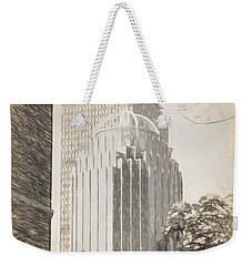 R2d2 Building And The Prudential Center Weekender Tote Bag