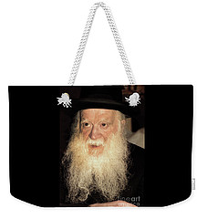 Weekender Tote Bag featuring the photograph Rabbi Yehudah Zev Segal by Doc Braham