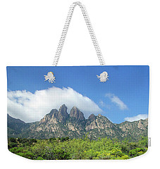 Weekender Tote Bag featuring the photograph  Organ Mountains Rabbit Ears by Jack Pumphrey