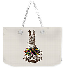 Rabbit In A Teacup Weekender Tote Bag by Eclectic at HeART