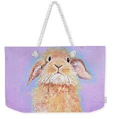 Rabbit Painting - Babu Weekender Tote Bag by Jan Matson