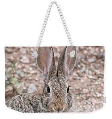 Rabbit Stare Weekender Tote Bag