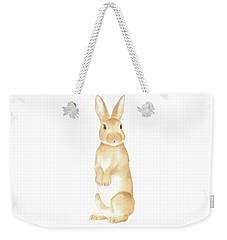 Rabbit Watercolor Weekender Tote Bag by Taylan Apukovska