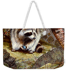 Raccoon Found Treasure  Weekender Tote Bag