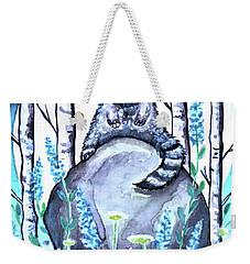 Raccoon Under The Moonlight Weekender Tote Bag