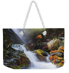 Weekender Tote Bag featuring the photograph Race Brook Falls 2017 by Bill Wakeley