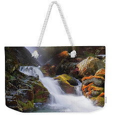 Weekender Tote Bag featuring the photograph Race Brook Falls 2017 Square by Bill Wakeley