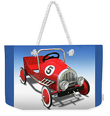 Weekender Tote Bag featuring the photograph Race Car Peddle Car by Mike McGlothlen