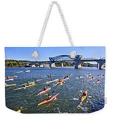 Race On The River Weekender Tote Bag