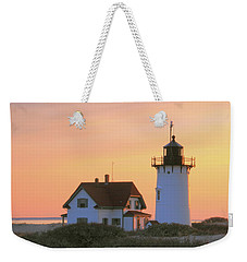 Race Point Light Weekender Tote Bag by Roupen  Baker