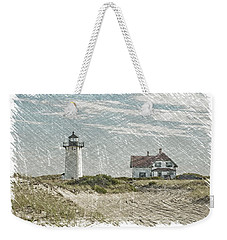 Weekender Tote Bag featuring the photograph Race Point Lighthouse by Paul Miller