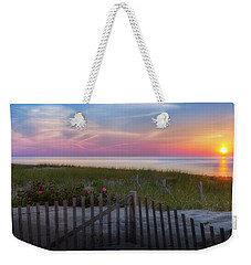 Weekender Tote Bag featuring the photograph Race Point Sunset 2015 by Bill Wakeley