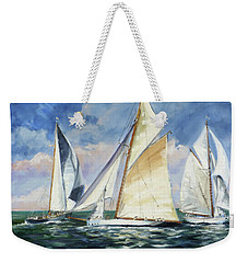 Race - Sails 11 Weekender Tote Bag by Irek Szelag