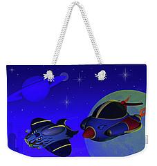 Race Thru Space Weekender Tote Bag