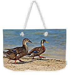 Race You To The Water Weekender Tote Bag by Carolyn Marshall