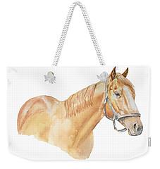Racehorse Weekender Tote Bag by Elizabeth Lock
