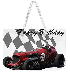 Racing Car Birthday Card 3 Weekender Tote Bag
