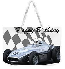 Racing Car Birthday Card 7 Weekender Tote Bag