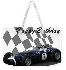 Racing Car Birthday Card 8 Weekender Tote Bag