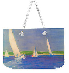 Racing Off Chester Weekender Tote Bag by Rae  Smith