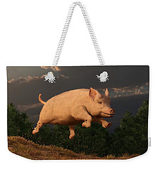 Racing Pig Weekender Tote Bag