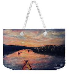 Racing The Sunset Weekender Tote Bag