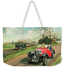 Racing The Train Weekender Tote Bag by Richard Wheatland