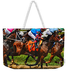 Racing Tight Weekender Tote Bag